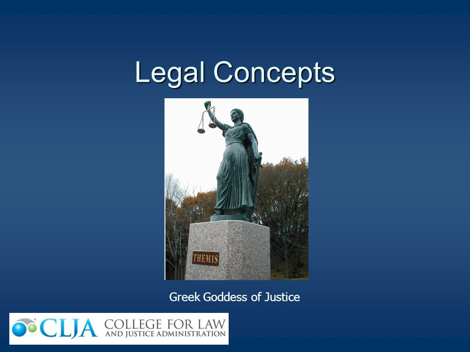 Legal Concepts Greek Goddess of Justice