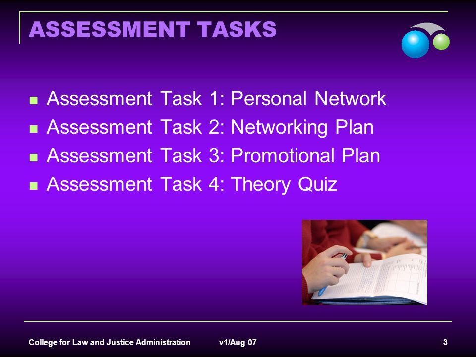 ASSESSMENT TASKS Assessment Task 1: Personal Network
