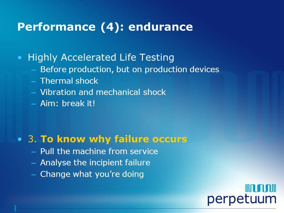 Performance (4): endurance