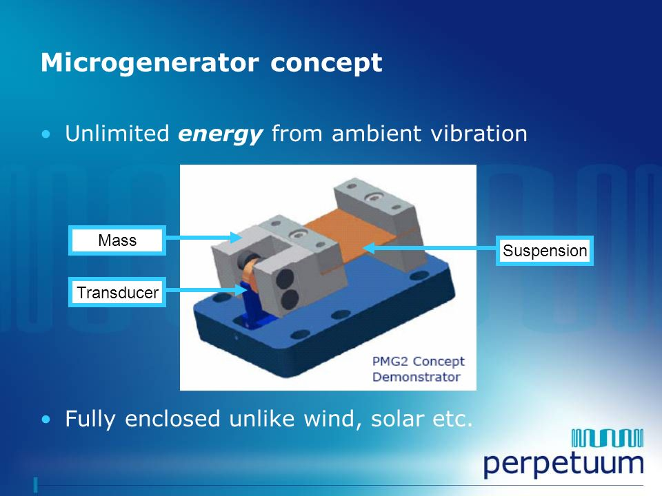 Microgenerator concept