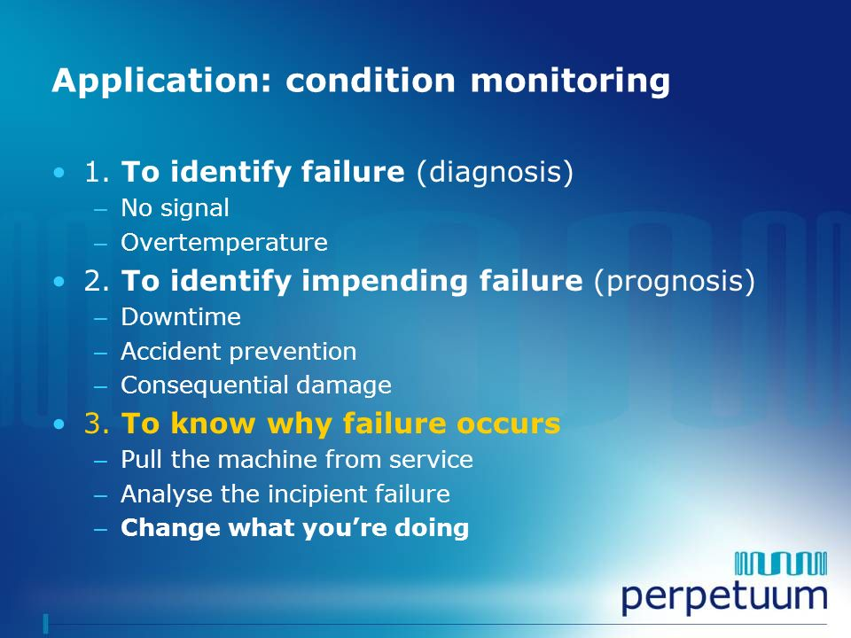 Application: condition monitoring