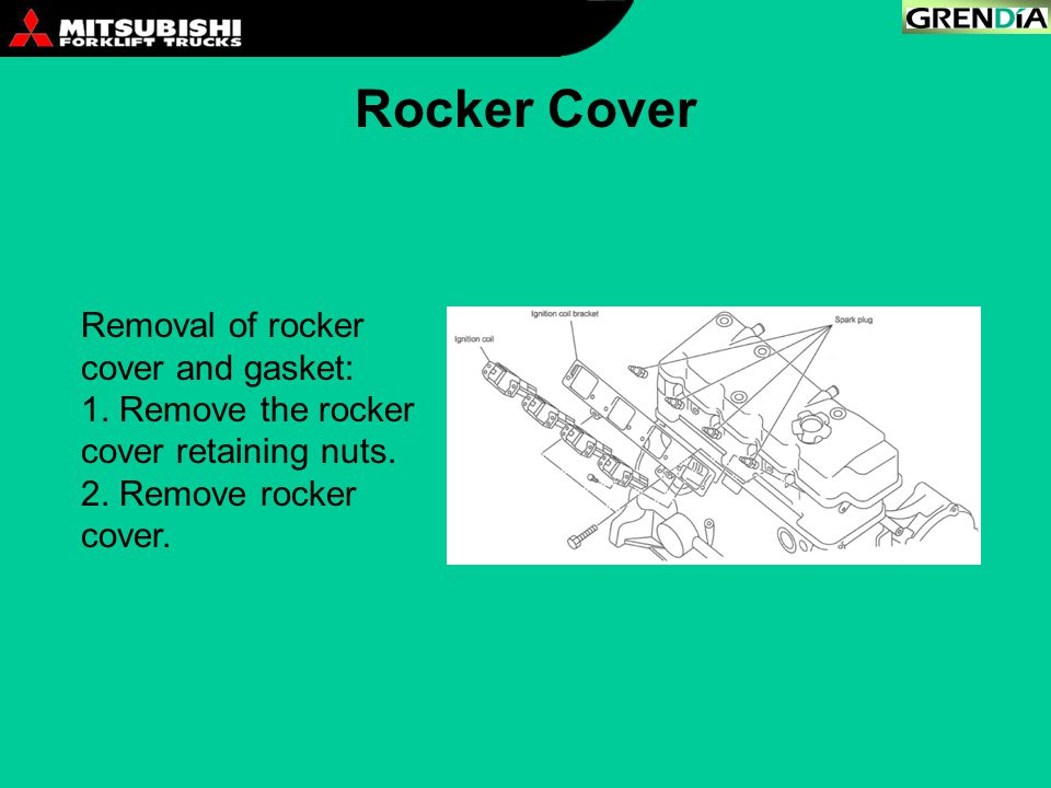 Rocker Cover Removal of rocker cover and gasket: