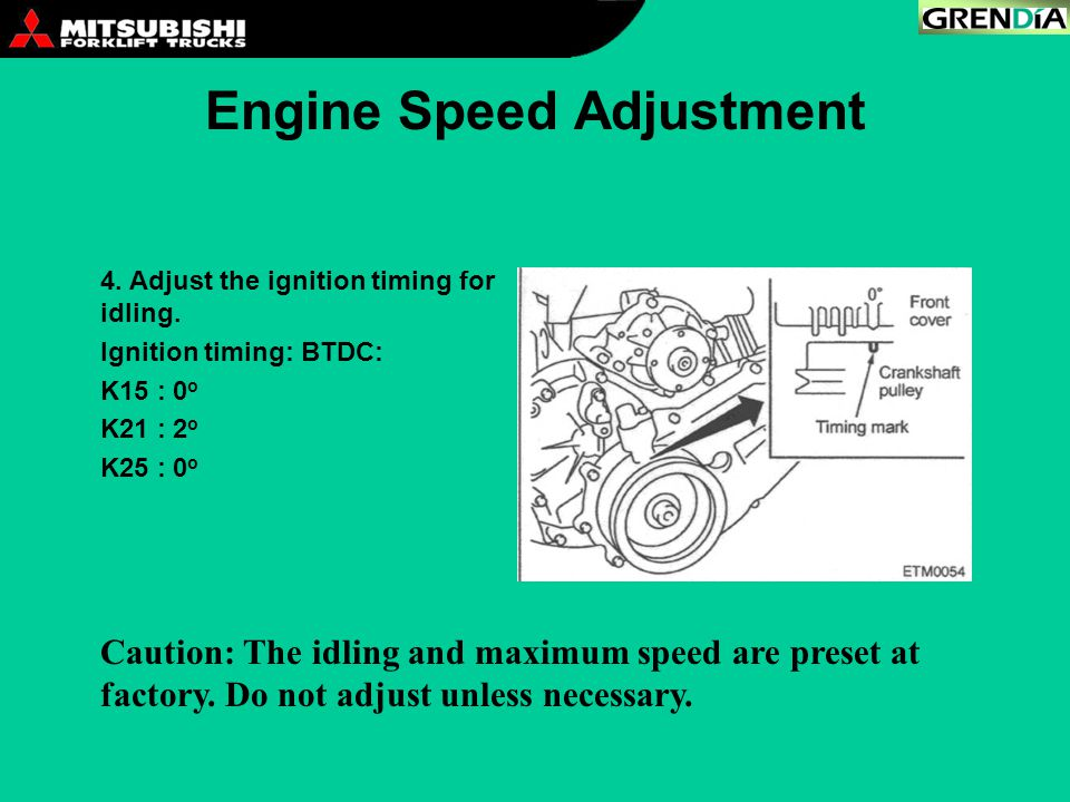 Engine Speed Adjustment