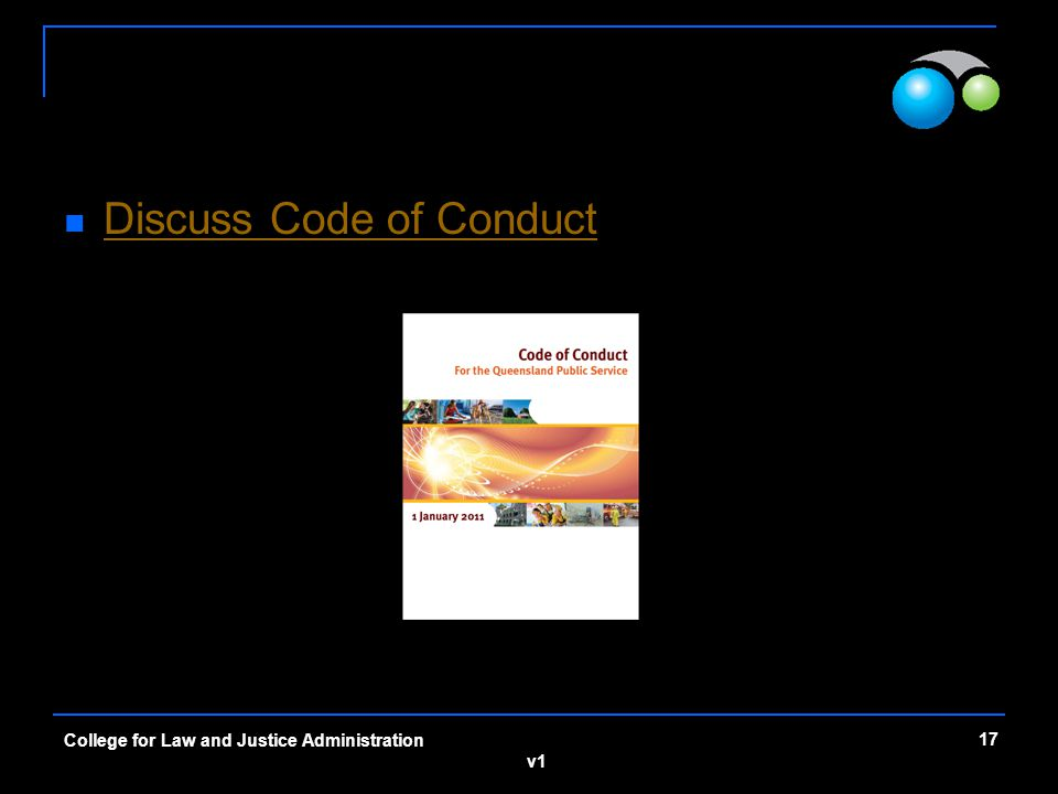 Discuss Code of Conduct