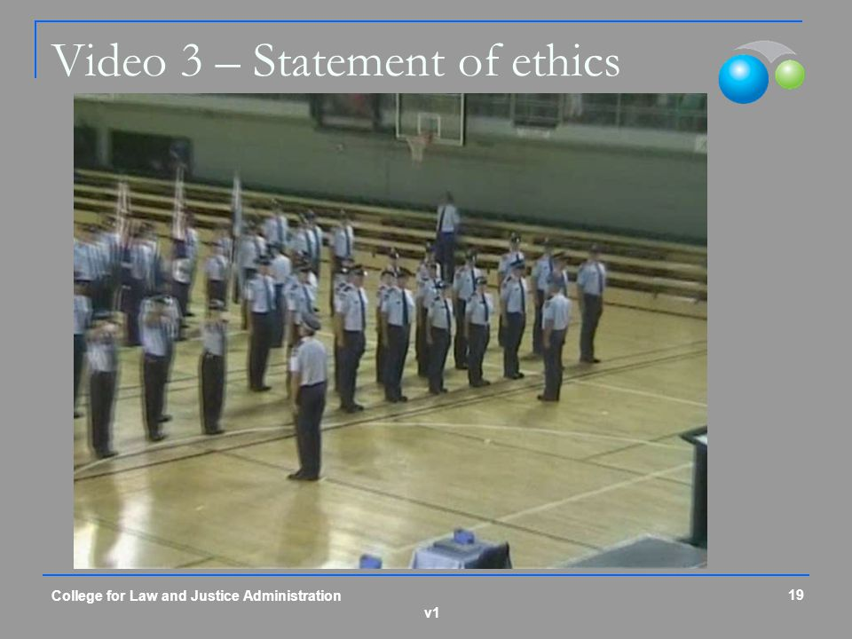 Video 3 – Statement of ethics