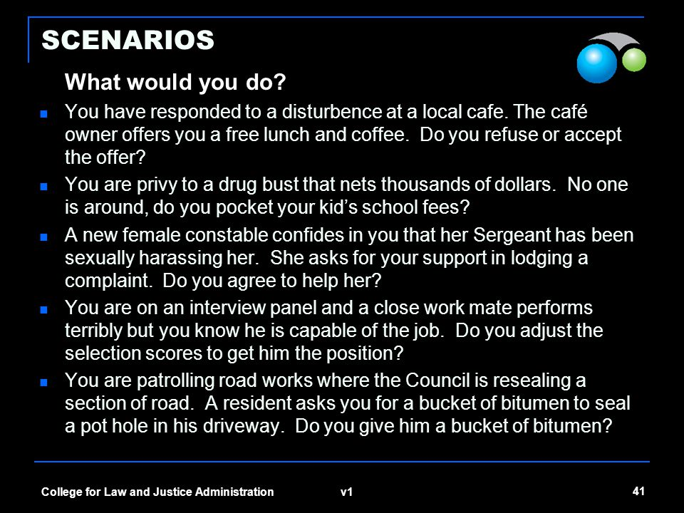 SCENARIOS What would you do