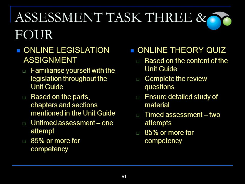 ASSESSMENT TASK THREE & FOUR
