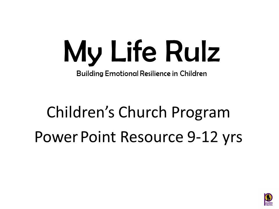 My Life Rulz Children's Church Program Power Point Resource 9-12 yrs
