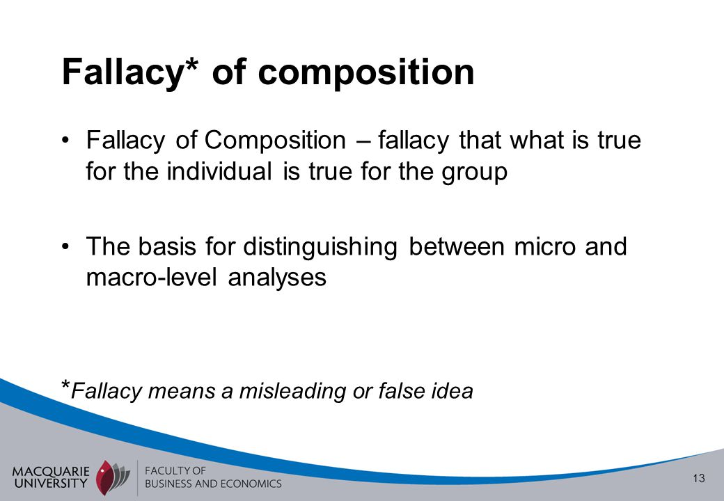 Fallacy* of composition