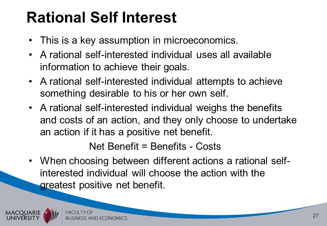 Rational Self Interest