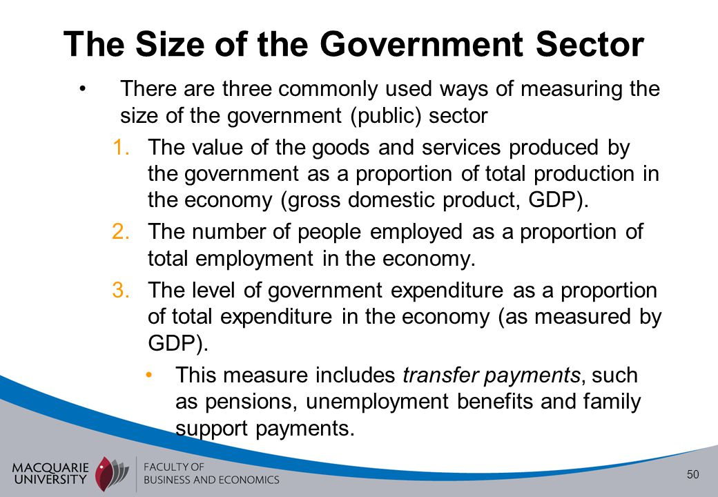 The Size of the Government Sector