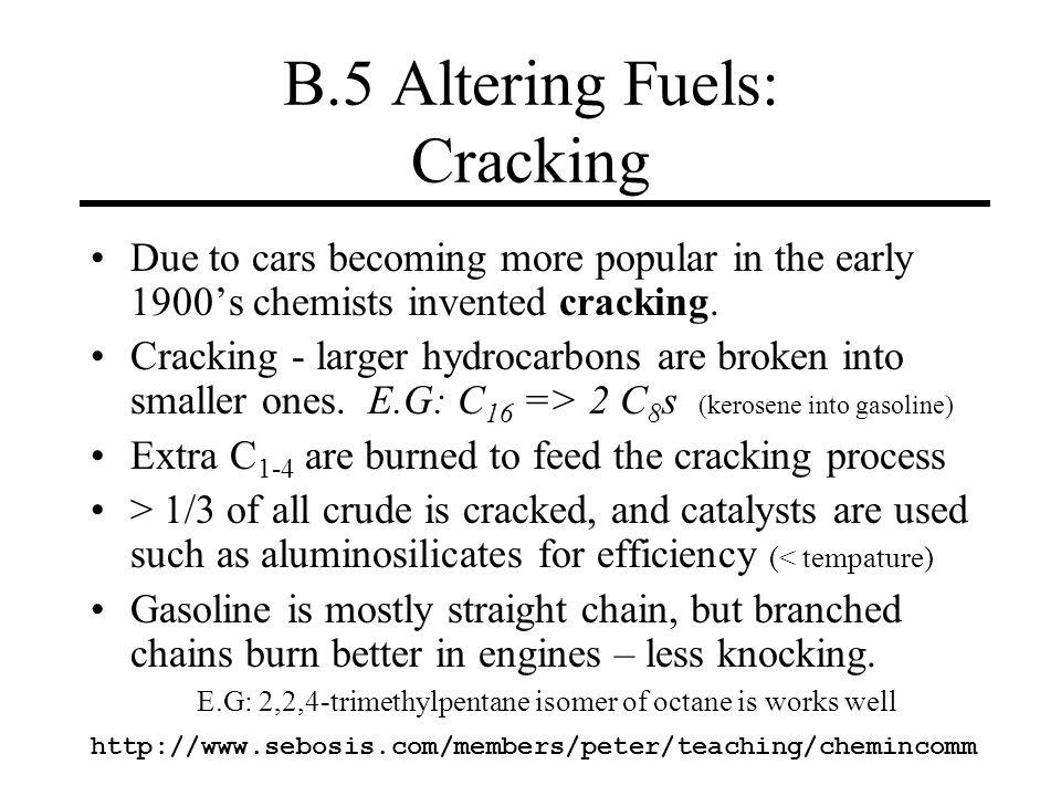 B.5 Altering Fuels: Cracking