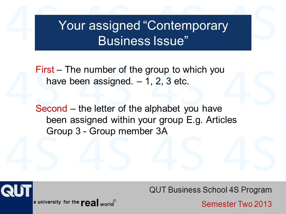 Your assigned Contemporary Business Issue