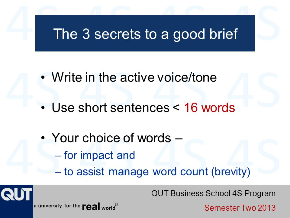 The 3 secrets to a good brief