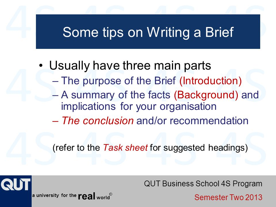 Some tips on Writing a Brief
