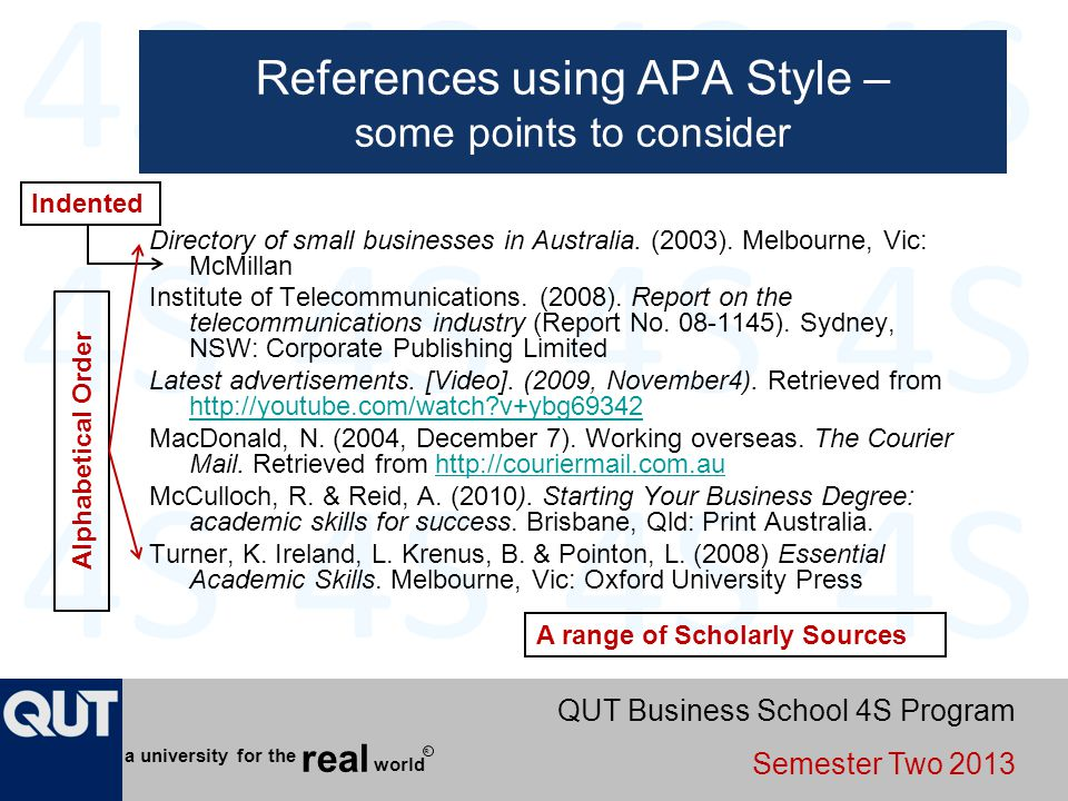 References using APA Style – some points to consider