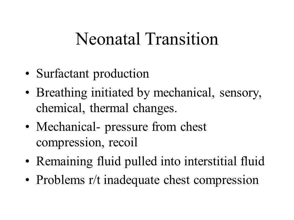 Neonatal Transition Surfactant production