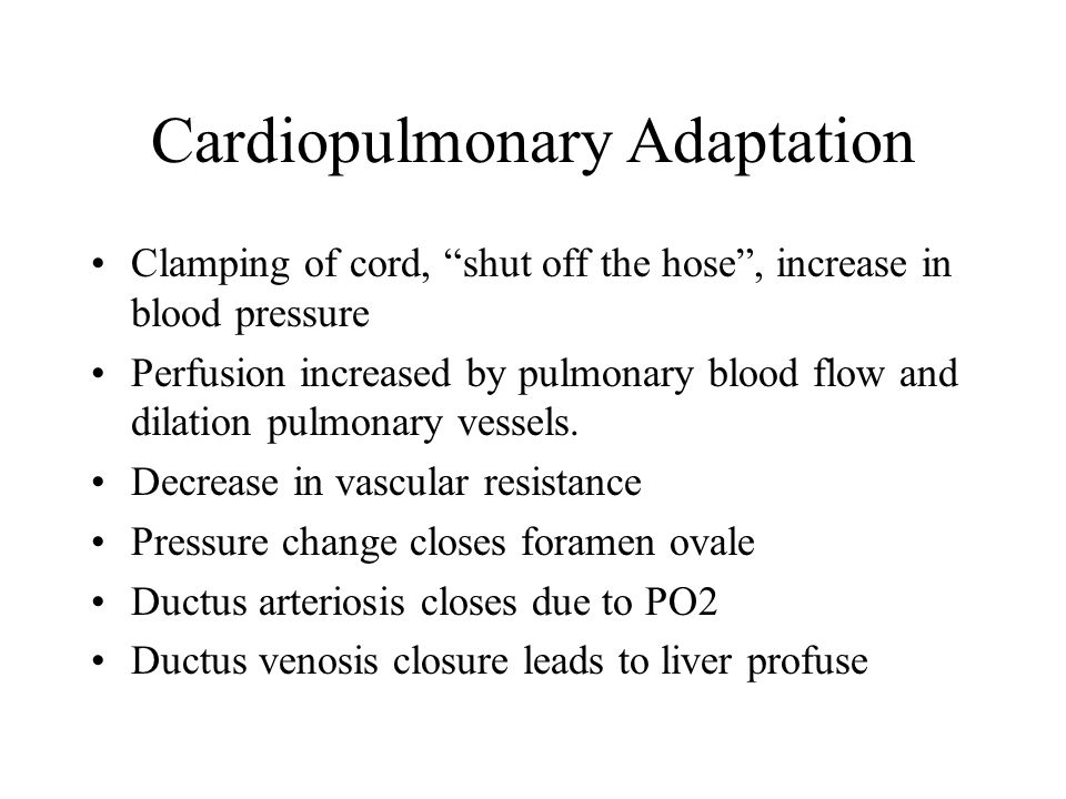 Cardiopulmonary Adaptation