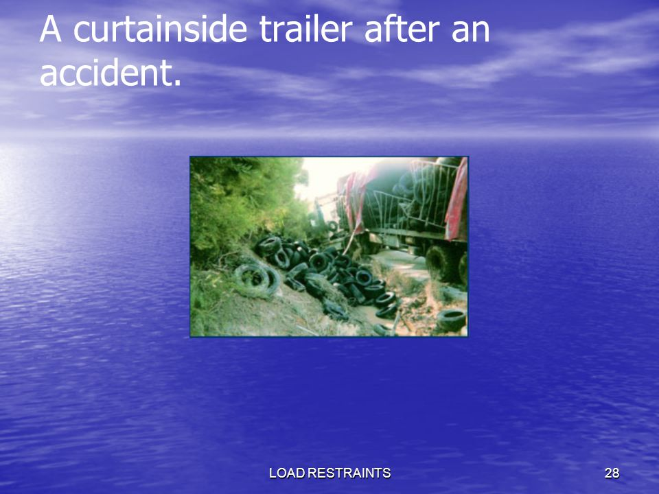 A curtainside trailer after an accident.