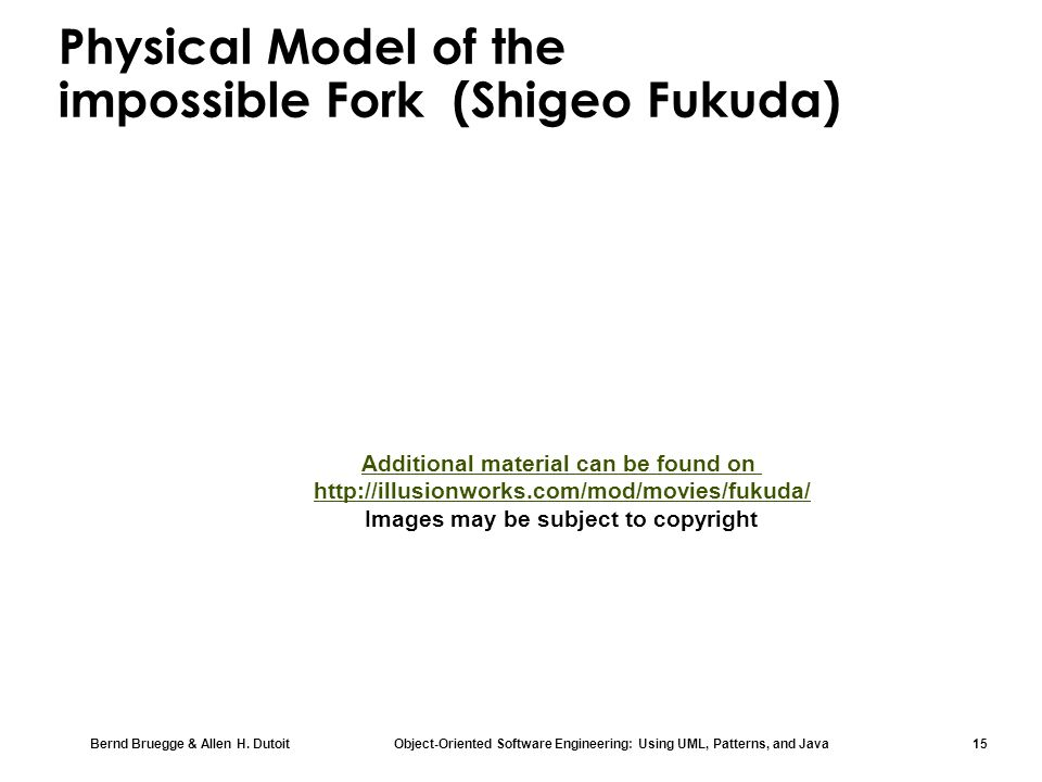 Physical Model of the impossible Fork (Shigeo Fukuda)