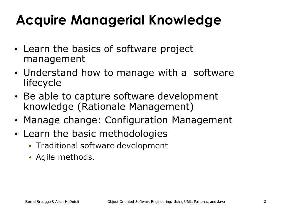 Acquire Managerial Knowledge