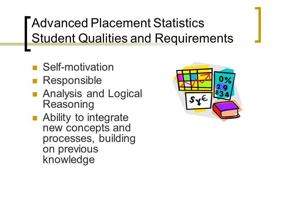 Advanced Placement Statistics Student Qualities and Requirements