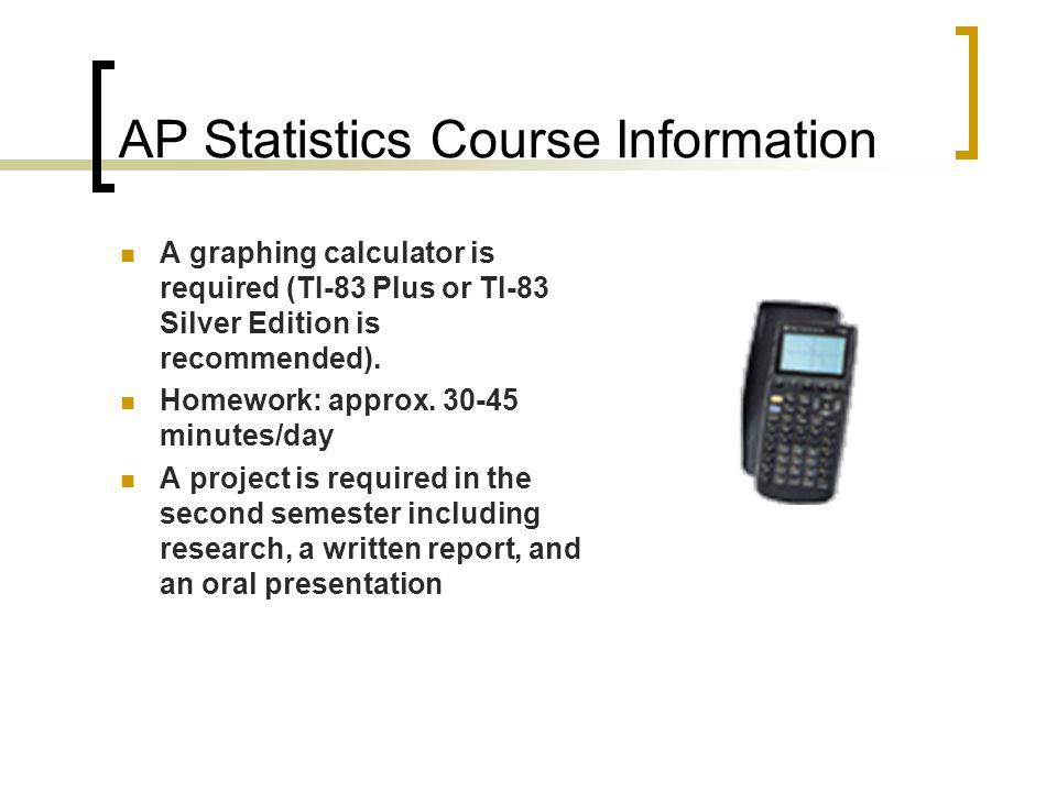 AP Statistics Course Information