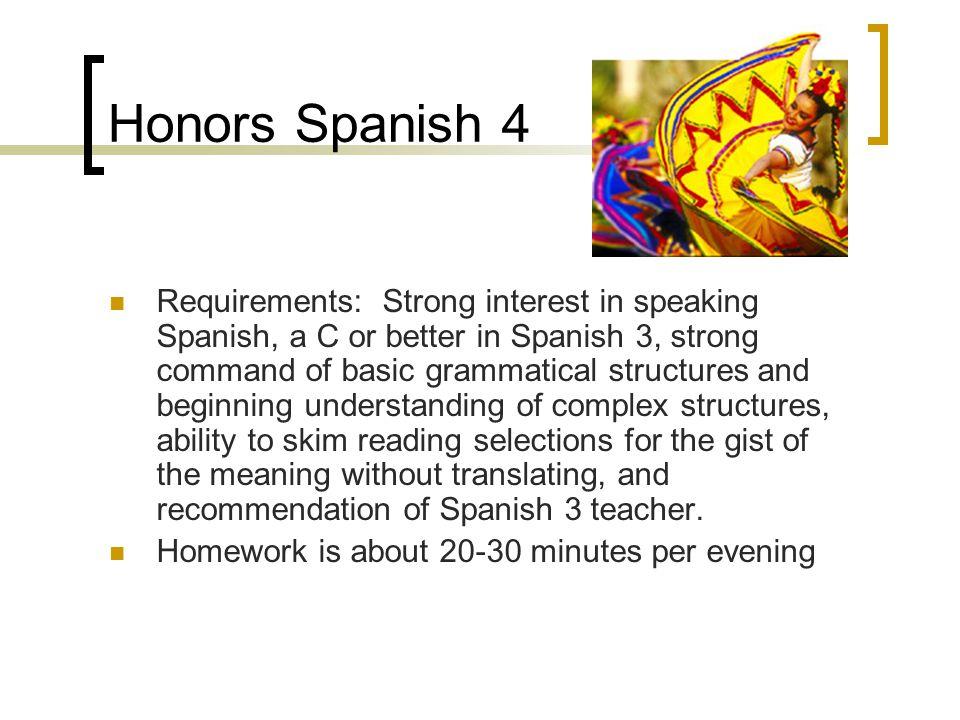 Honors Spanish 4