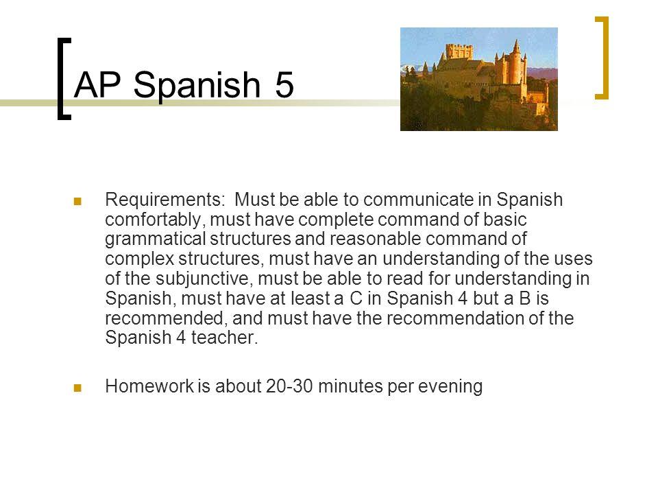 AP Spanish 5