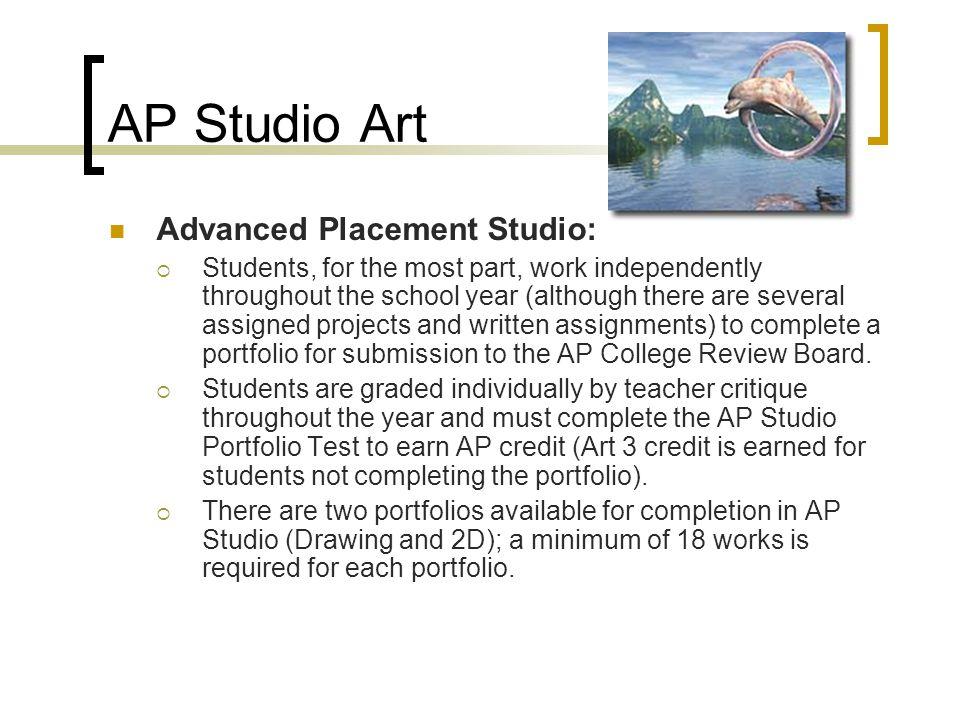 AP Studio Art Advanced Placement Studio: