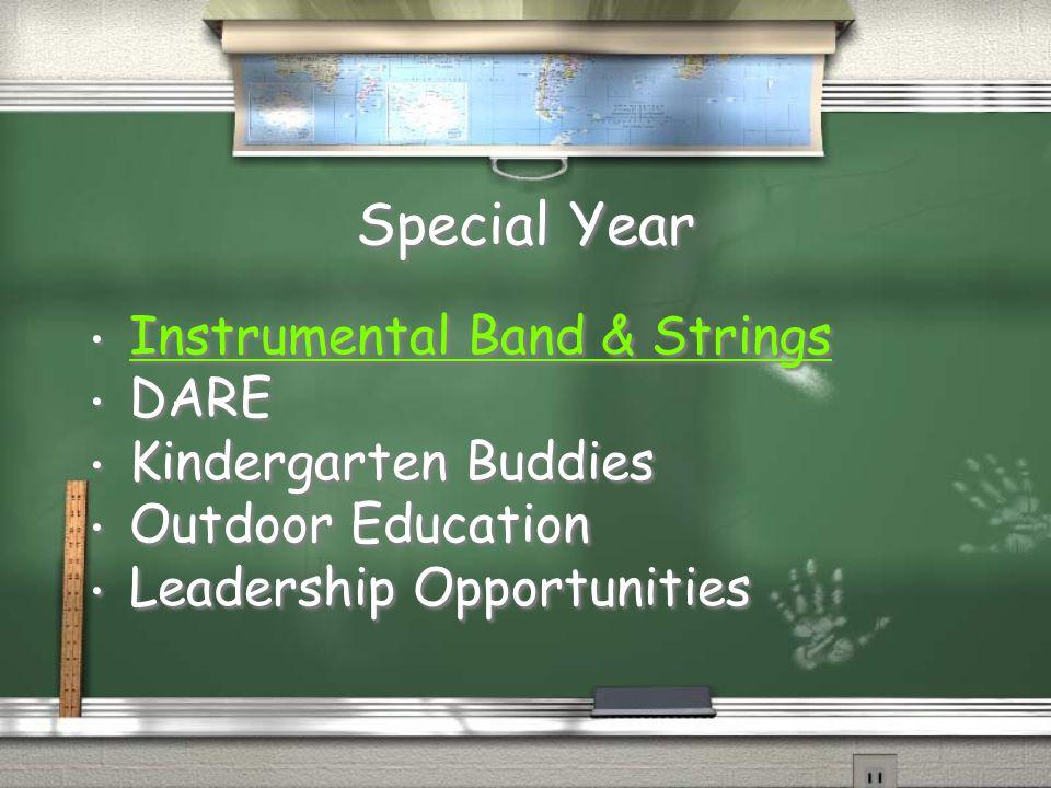 Special Year Instrumental Band & Strings DARE Kindergarten Buddies