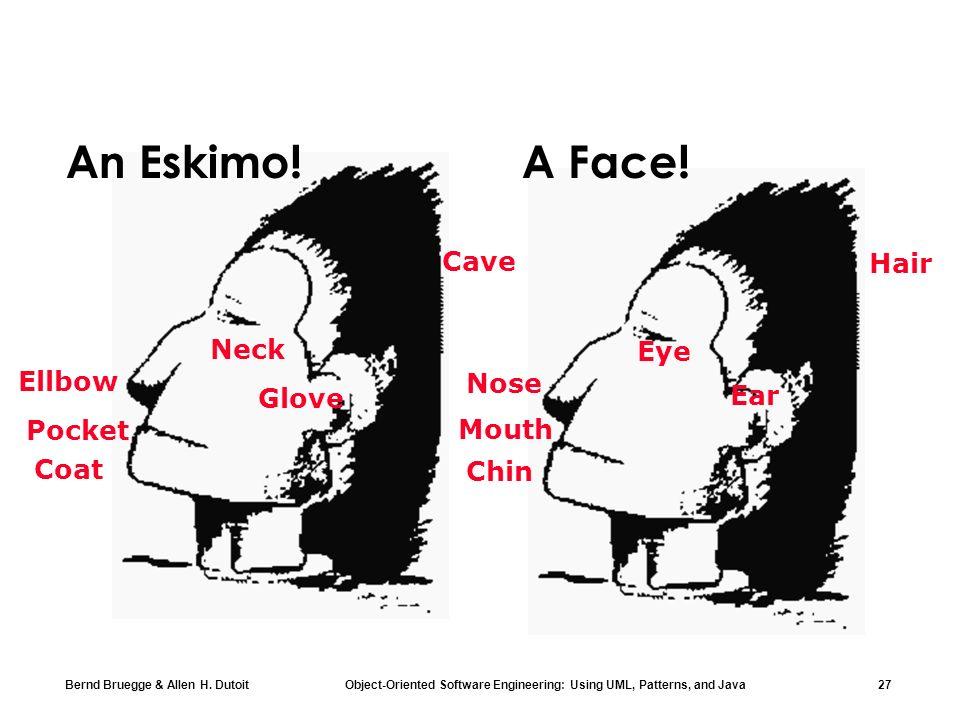 An Eskimo! A Face! Cave Hair Neck Eye Ellbow Nose Ear Glove Pocket