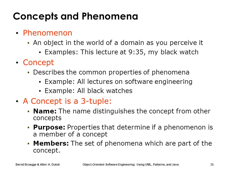 Concepts and Phenomena