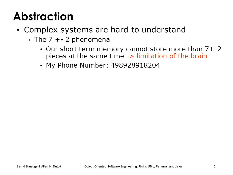 Abstraction Complex systems are hard to understand
