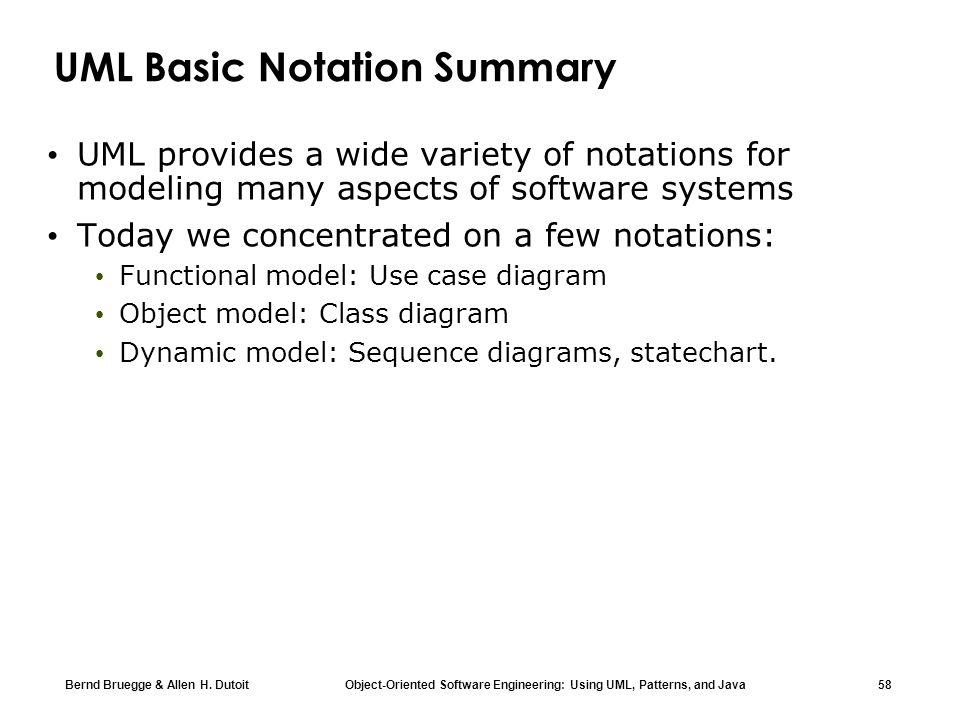 UML Basic Notation Summary