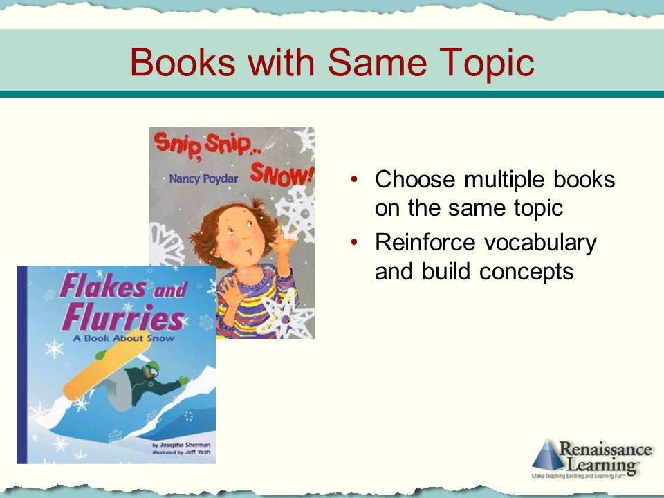 Books with Same Topic Choose multiple books on the same topic