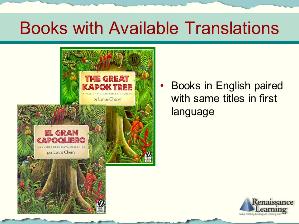 Books with Available Translations