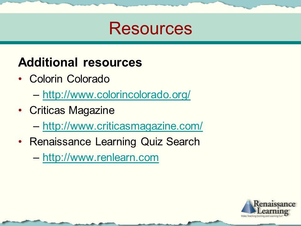 Resources Additional resources Colorin Colorado