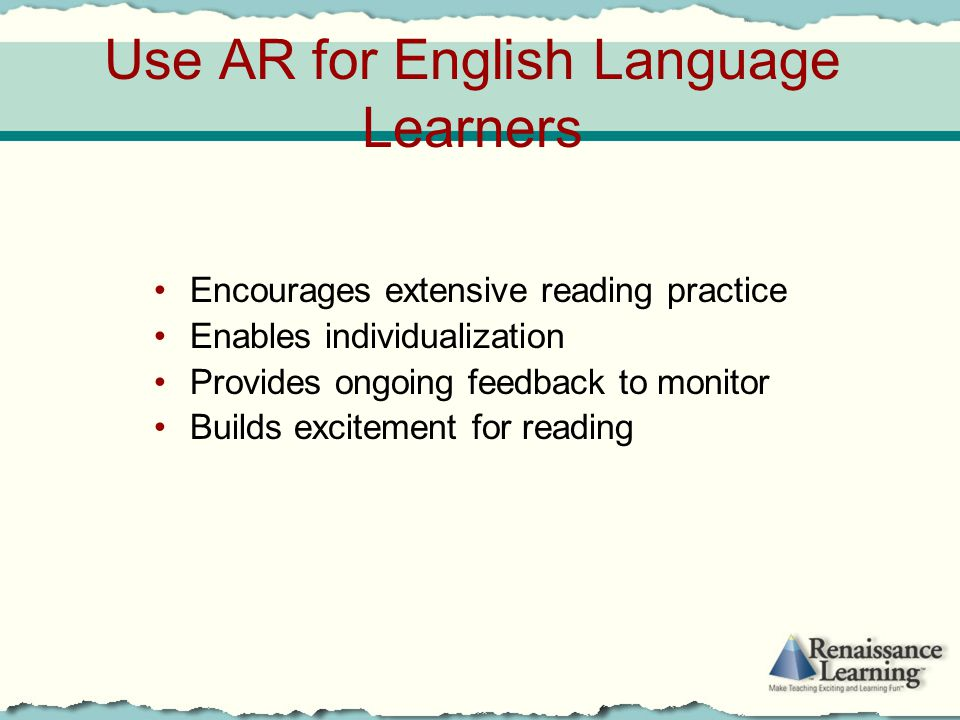 Use AR for English Language Learners