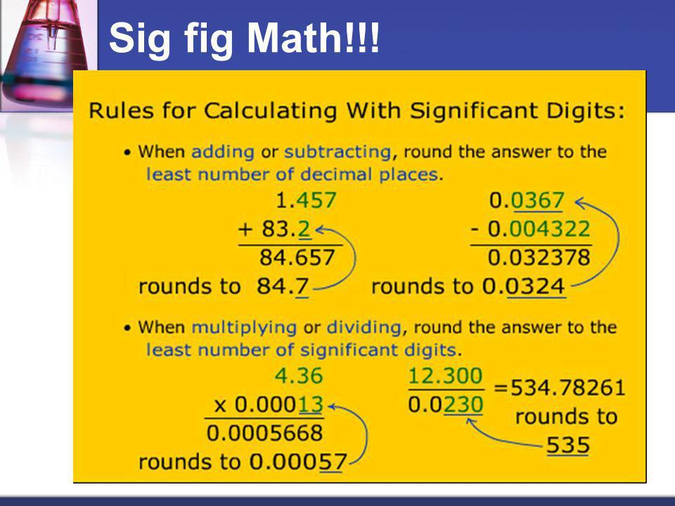 Sig fig Math!!!