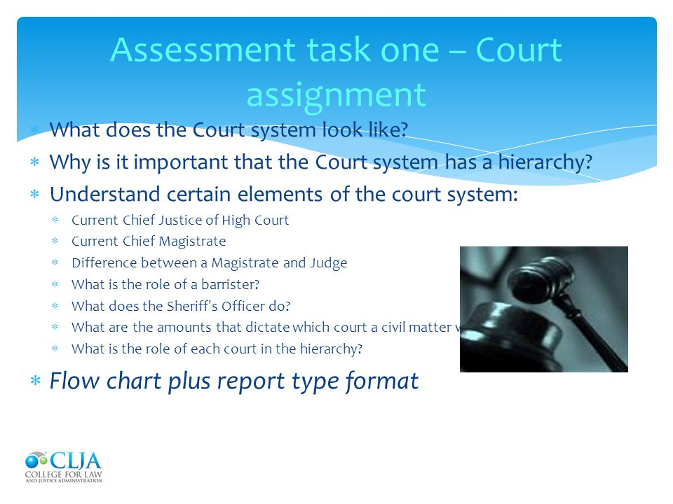 Assessment task one – Court assignment