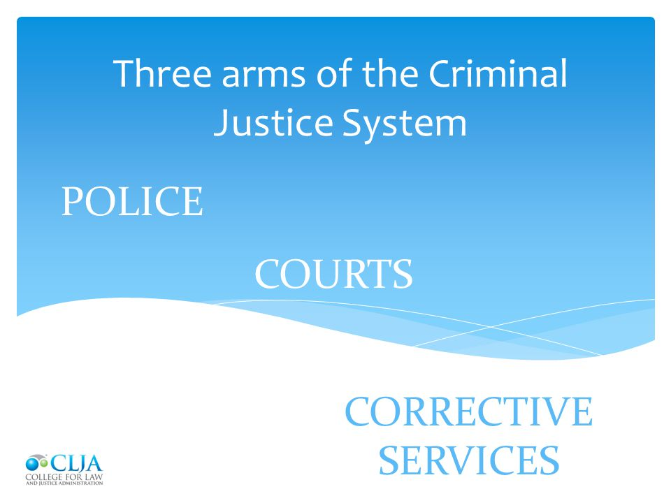Three arms of the Criminal Justice System