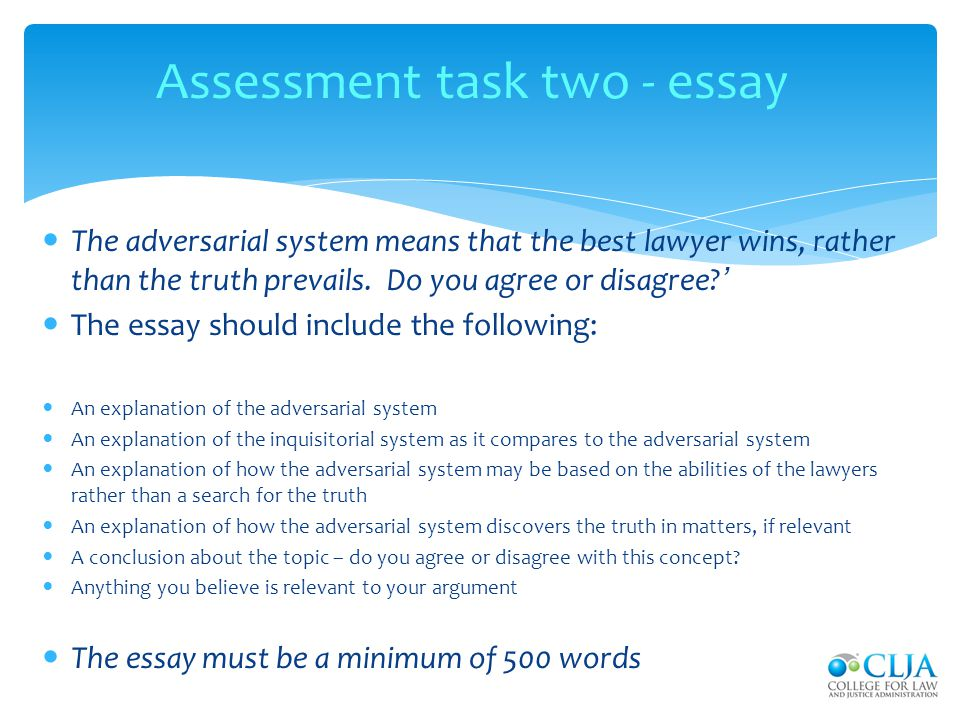 Assessment task two - essay
