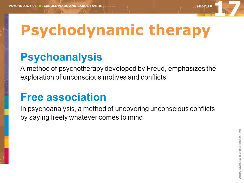 Psychodynamic therapy