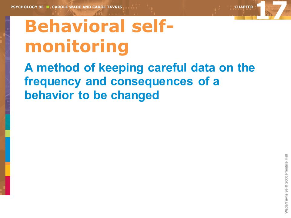Behavioral self-monitoring
