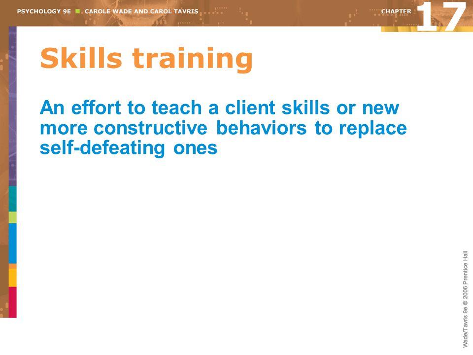 17 Skills training.