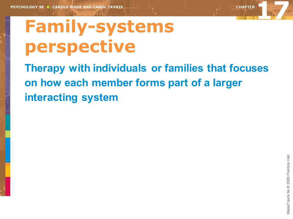 Family-systems perspective