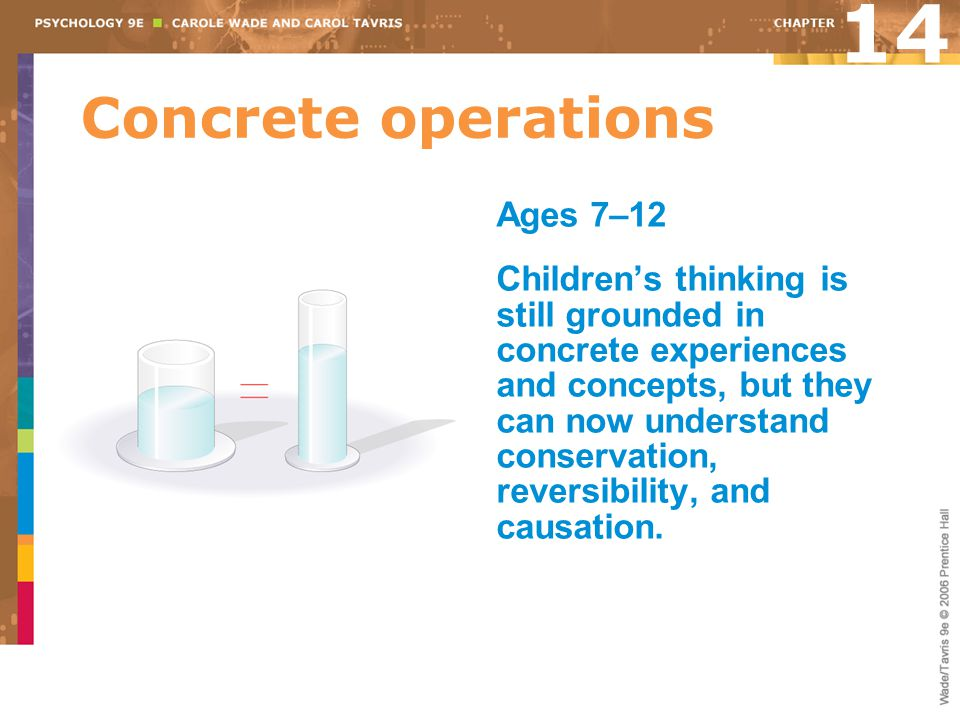 14 Concrete operations Ages 7–12