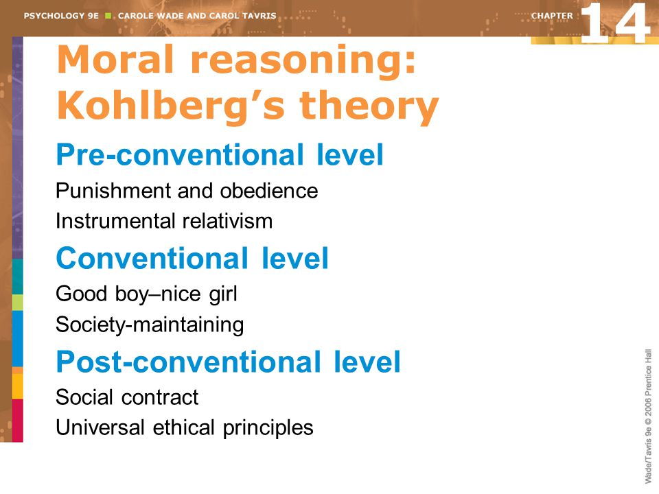 Moral reasoning: Kohlberg's theory