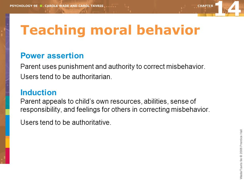 Teaching moral behavior